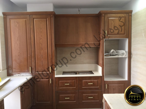 classic wooden cabinet-کابینت آشپزخانه کلاسیک چوب