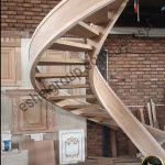wooden stairs-پله چوبی